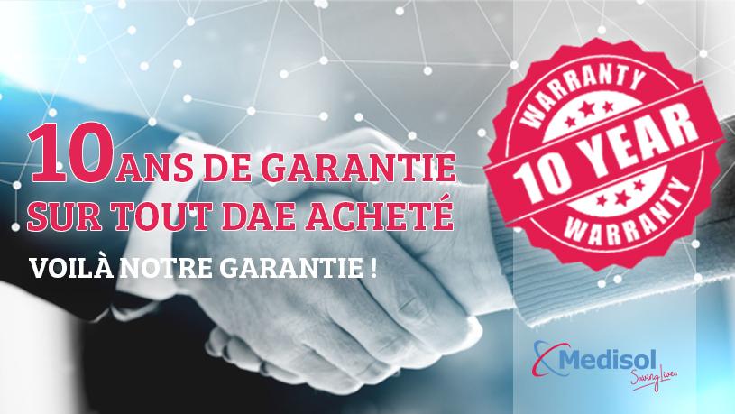 10 Jahre Garantie bei Ankauf eines Defibrillators bei AEDverkauf.de!